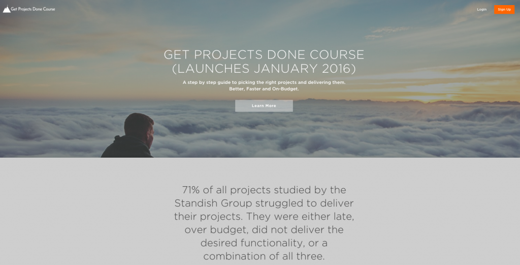 Get Projects Done Course Website
